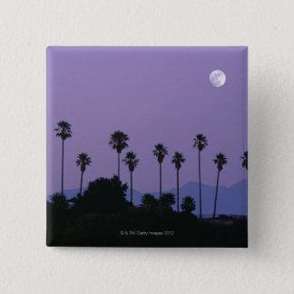 薄暗がりでヤシの木、ハリウッドにうろついて下さい 5.1CM 正方形バッジ