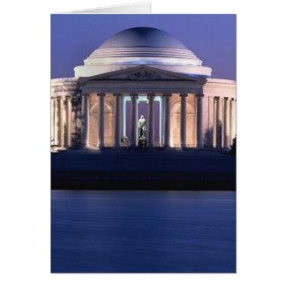 薄暗がりのトーマス・ジェファーソンの記念物 カード