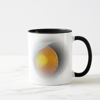 薄暗がりのマグの白熱[赤熱]光を放つな信号 マグカップ