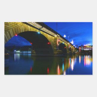 薄暗がりのロンドン橋 長方形シール