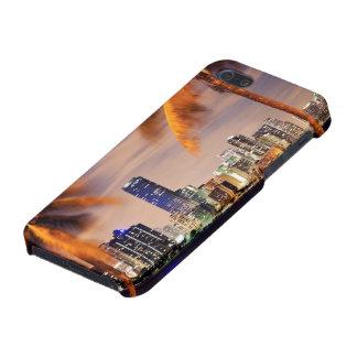 薄暗がりの米国、フロリダ、マイアミのスカイライン iPhone SE/5/5sケース
