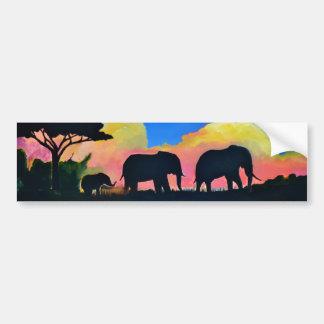 薄暗がりの象 バンパーステッカー