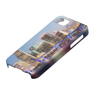 薄暗がりの都心のマイアミの照らされたスカイライン iPhone SE/5/5s ケース