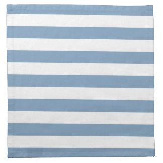 薄暗がりの青い縞パターン ナプキンクロス