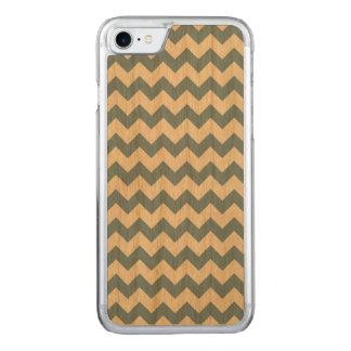 薄暗がりの青く白いシェブロンパターン CARVED iPhone 8/7 ケース