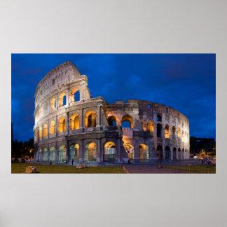 薄暗がりのColosseum ポスター