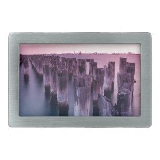 薄暗がりのPier Portメルボルン素晴らしい王子 長方形ベルトバックル