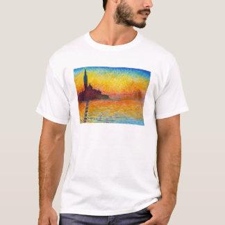 薄暗がりクロード・モネのサンジョルジョMaggiore Tシャツ