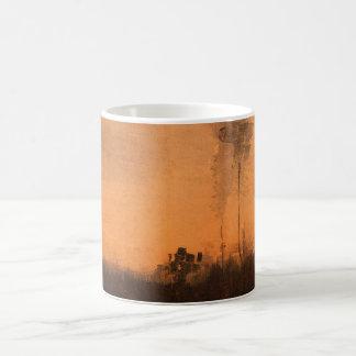 薄暗がり、ヴィンテージのファインアートのゴッホの景色 コーヒーマグカップ