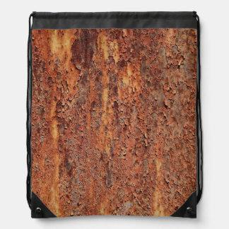 薄片状の錆つく金属 ナップサック