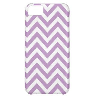 薄紫および白いジグザグパターン iPhone5Cケース