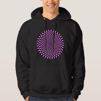 薄紫および黒いオップアートの車輪- パーカ