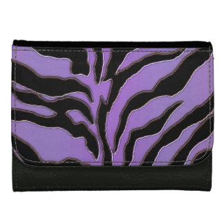 薄紫および黒いシマウマのストライプの財布