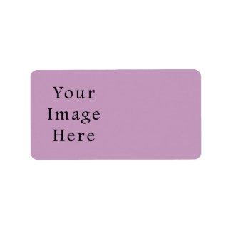 薄紫すみれ色の紫色色の傾向のブランクのテンプレート ラベル