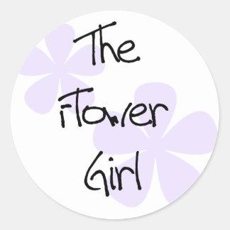 薄紫によってはフラワー・ガールが開花します ラウンドシール