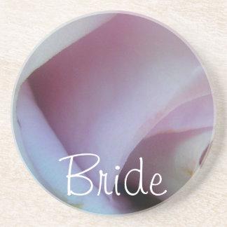 薄紫のばら色の結婚式 コースター