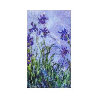 薄紫のアイリスMonetのファインアート キャンバスプリント