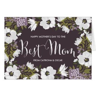 薄紫のアネモネは幸せな母の日カード|の咲きます カード