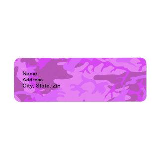 薄紫のカムフラージュ ラベル