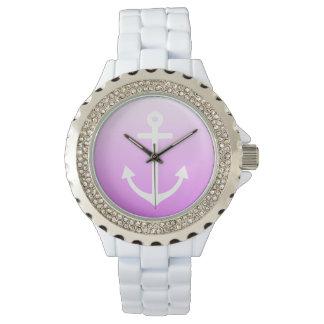 薄紫のグラデーションな航海の 腕時計