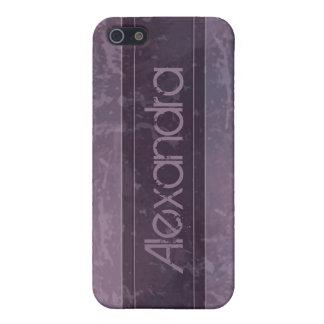 薄紫のグランジな大理石の動揺して iPhone 5 ケース