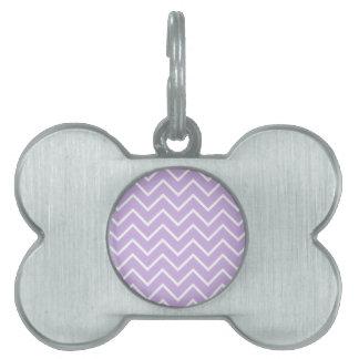 薄紫のシェブロンパターン ペットネームタグ