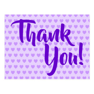 薄紫のハートは感謝していしています ポストカード