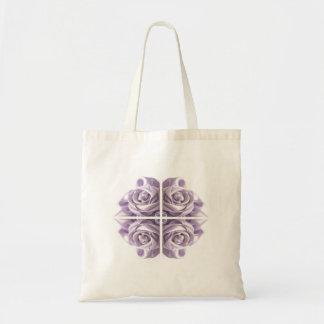 薄紫のバラの抽象芸術 トートバッグ