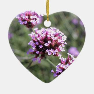 薄紫のバーベナの花の小枝 セラミックオーナメント