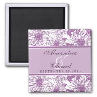 薄紫のヒマワリの結婚式の引き出物の磁石のギフト マグネット