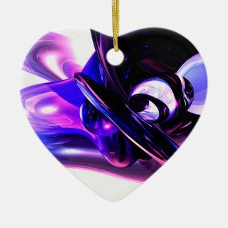 薄紫のファンタジーの抽象芸術のオーナメント セラミックオーナメント