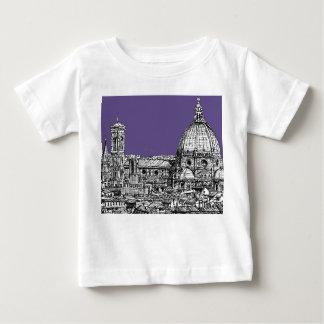 薄紫のフィレンツェのドーム ベビーTシャツ