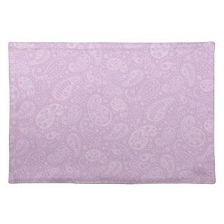 薄紫のペイズリーの花柄 ランチョンマット