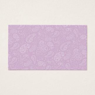 薄紫のペイズリーの花柄 名刺