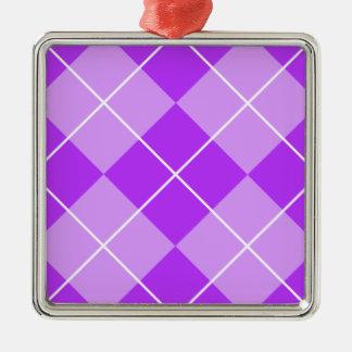 薄紫のラベンダーのアーガイル メタルオーナメント