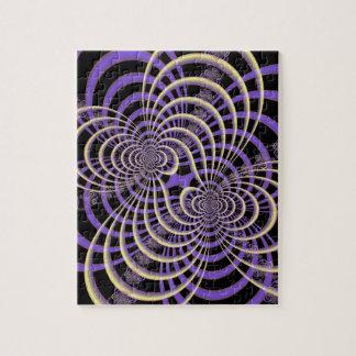 薄紫のラベンダーの格子パズル パズル