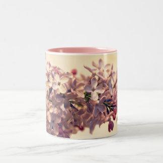 薄紫の写真のコーヒー・マグ ツートーンマグカップ