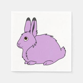 薄紫の北極ノウサギ スタンダードカクテルナプキン