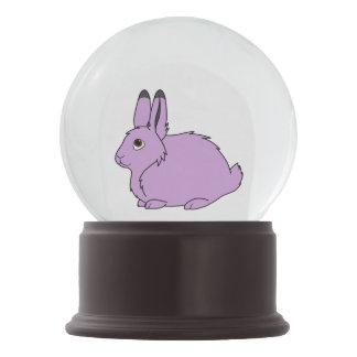 薄紫の北極ノウサギ スノーグローブ