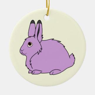 薄紫の北極ノウサギ セラミックオーナメント