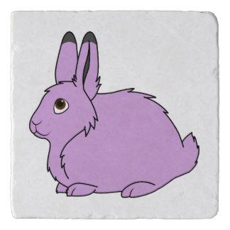 薄紫の北極ノウサギ トリベット