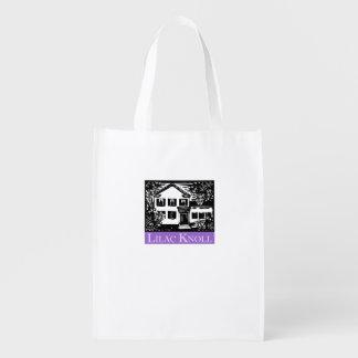 薄紫の小山の再使用可能な買い物袋 エコバッグ