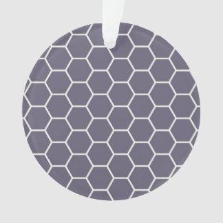 薄紫の幾何学的な六角形の蜜蜂の巣パターン オーナメント