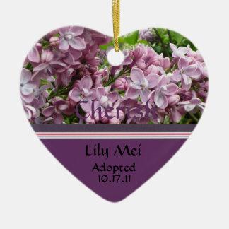 薄紫の採用の発表のオーナメント セラミックオーナメント
