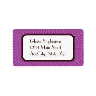 薄紫の春は宛名ラベルを放射します ラベル