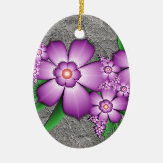 薄紫の柔軟性 セラミックオーナメント