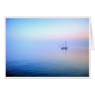 薄紫の海 グリーティングカード