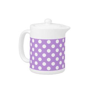 薄紫の白い水玉模様