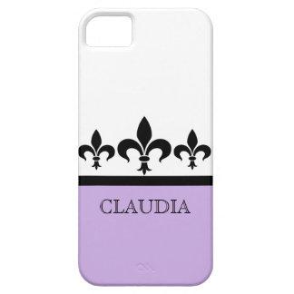薄紫の粋な(紋章の)フラ・ダ・リBTのiPhone 5の場合 iPhone SE/5/5s ケース