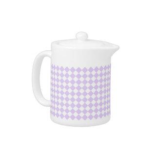 薄紫の紫色のダイヤモンドのチェック模様のパターン